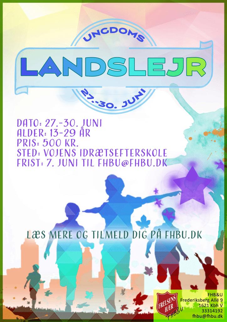 Plakat Ungdomslandslejr